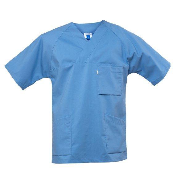 Kittel v-hals 819 - Lys blå