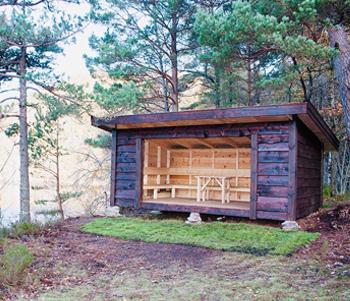 Varodd har satt opp en flott gapahuk ved Fiskåvann, som heter Utsikten, og som har idyllisk beliggenhet.